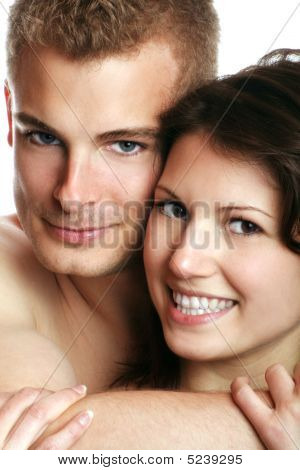Sexy Couple Is Smiling