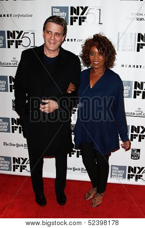 NEW YORK- OCT 8: Actress Alfre Woodard (R) and husband Roderick Spencer attend the