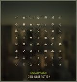 stock photo of glyphs  - Web and Mobile Icon Collection - JPG
