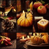 stock photo of fall decorations  - Restaurant series - JPG