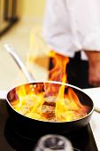 picture of pot roast  - pot with fire - JPG