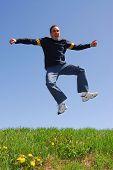Man Jump Happy poster