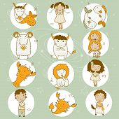 picture of libra  - Zodiac icon set - JPG