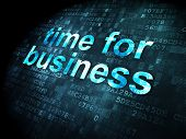 Timeline concept: Time for Business on digital background