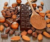 Chocolate, Nuts And Cocoa Beans