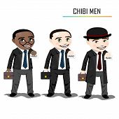 foto of chibi  - Chibi businessman vector - JPG