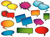 foto of pop art  - Pop art speech bubbles - JPG