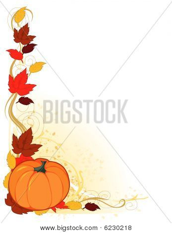 Pumpkin Autumn Border