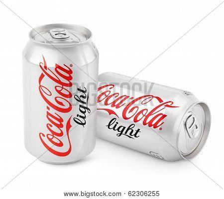 Aluminum Cans Of Coca-cola Light