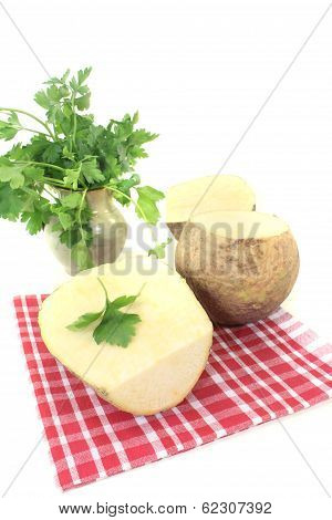 Yellow Rutabaga On A Napkin
