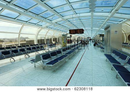 RIO DE JANEIRO, BRAZIL - March 22: Santos Dumont Airport on March 22, 2014 in Rio de Janeiro, Brazil. Santos Dumont Airport is a domestic airport in Rio de Janeiro.