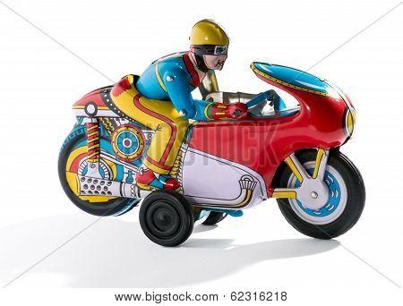 Biker Retro Tin Toy