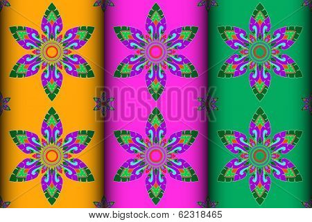 Colorful Thai Style Kra Jung Pattern