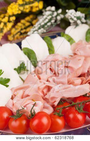 Mortadella Mozzarella Tomatoes