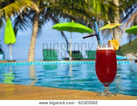 Cocktail Mai Tai Near Pool