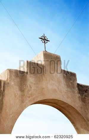 Cross at San Xavier del Bac Mission, Arizona