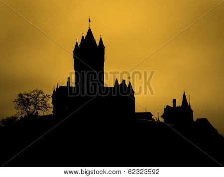 Sunset Castle Silhouette Germany