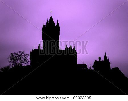 Ghostly Castle Silhouette Germany