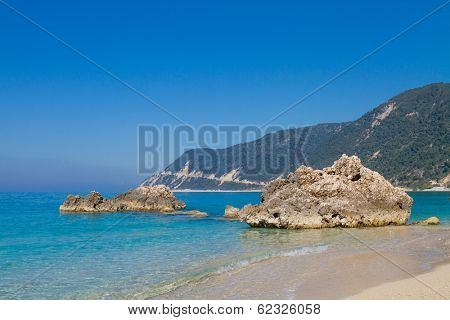 Saint Nikitas tourist resort in Lefkas Greece