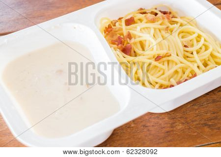 Ready Meal With Spaghetti Carbonara