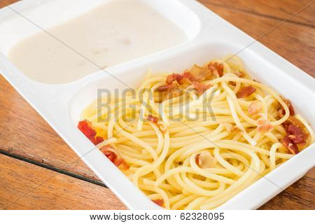 Delicious Meal With Spaghetti Carbonara