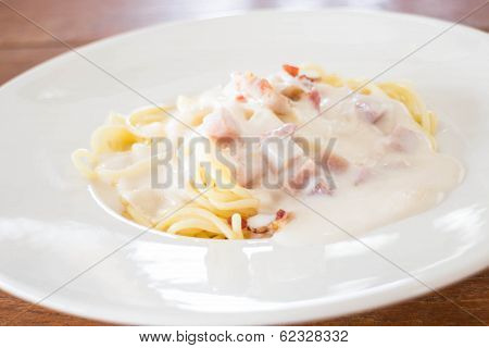 Delicious Dish Of Spaghetti Carbonara