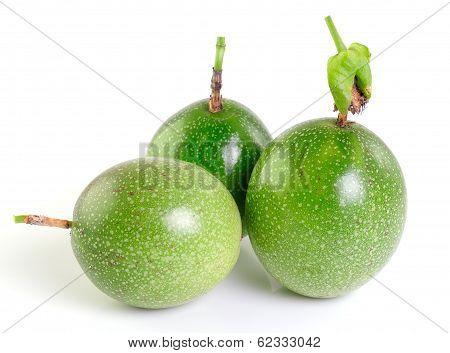 Passionfruit On White Background