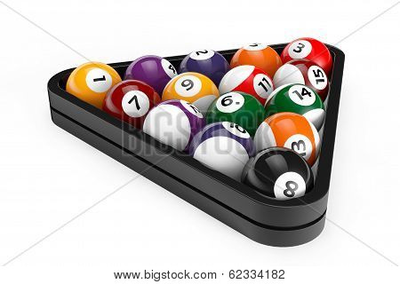 Glossy Billiard Balls Set