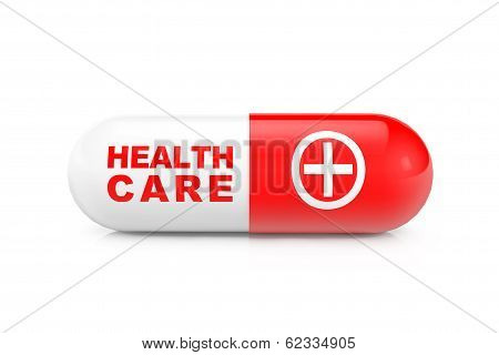 Health Care Concept. Medical Capsule Pill