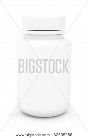 White Blank Medical Pills Container