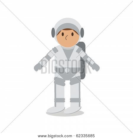 Astronaut Isolated On White.