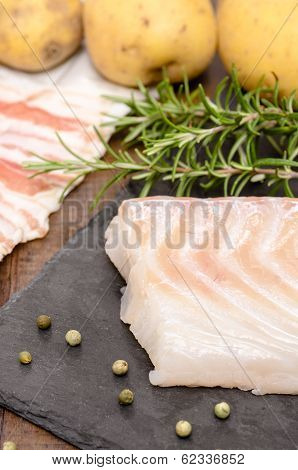Raw Cod In Vertical Format