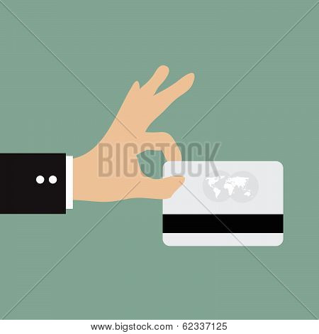 Business Man Using Credit Card Payment