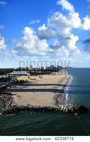 Beach At Fort Lauderdale, Florida