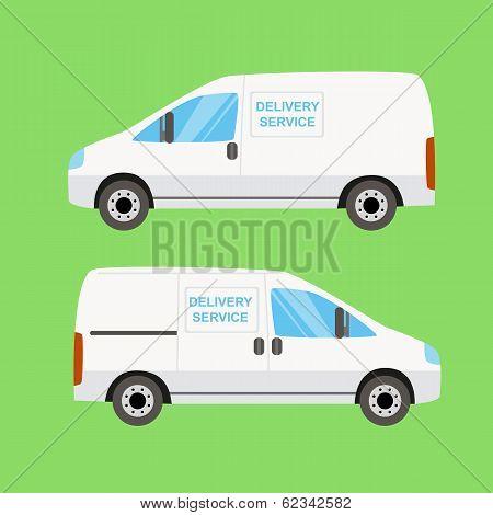 White delivery van twice