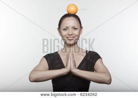 Woman Orange Juice