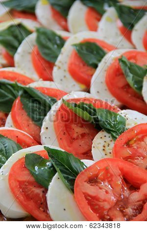 Scrumptious salad of tomato and mozzarella