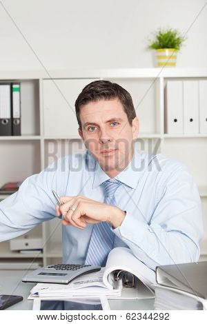 Businessman With A Serious Speculative Look