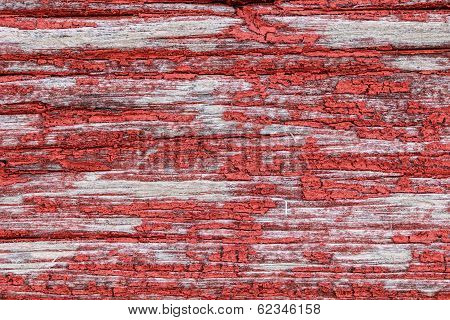 Old Worn Horizontal Timber Wall