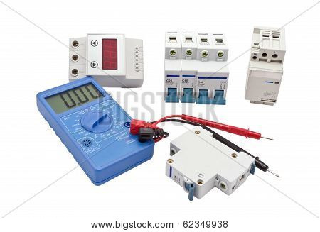 Automatic Circuit Breaker And Lcd Multimetr