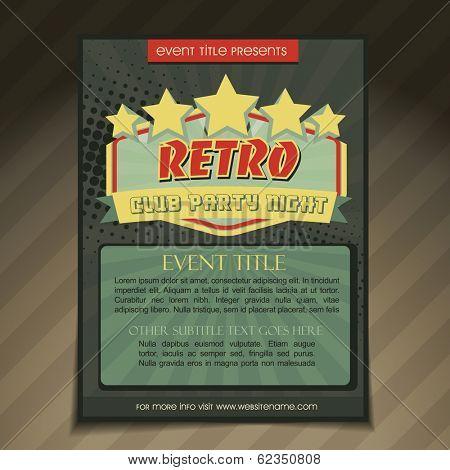 vector club party brochure flyer template design