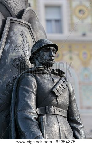 Soldier Statue In Trieste, Italy
