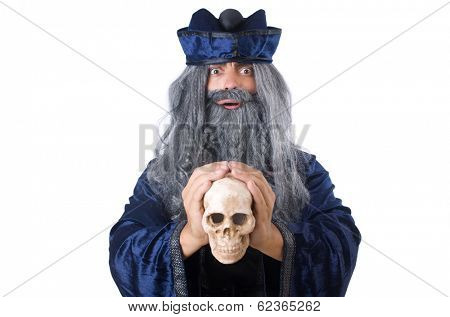 Wizard isolated on the wise background