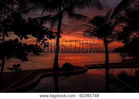 Dramatic Sunset In Thailand, Samui