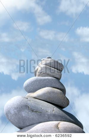 Balanced Cloudy Rocks