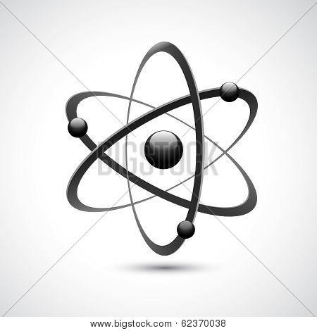 Atom logo symbol 3d