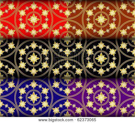 Gold Gazania Pattern