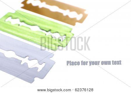 Razor blades isolated on white