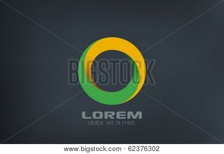 Circle infinity loop vector logo design. Infinite looped shape. Donut creative concept icon