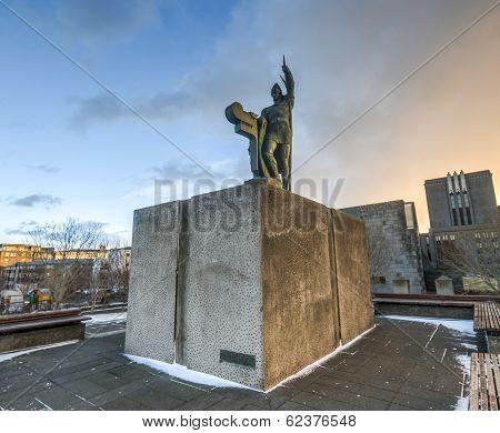 Statue Of Ingolf Arnarson, Reykjavik, Iceland